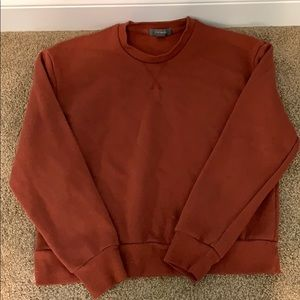 Rust orange sweatshirt